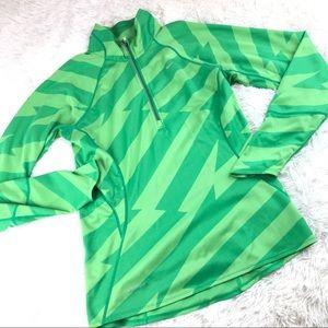 Nike Running LS 1/2 zip Green Pullover